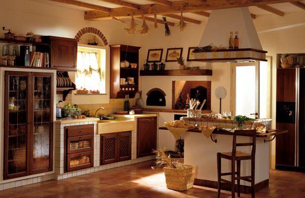 Muebles y decoraci n de interiores cocina r stica italiana for Foto casa classica