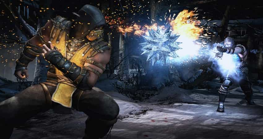 The Scorpion character from Mortal Kombat X highly compressed video game