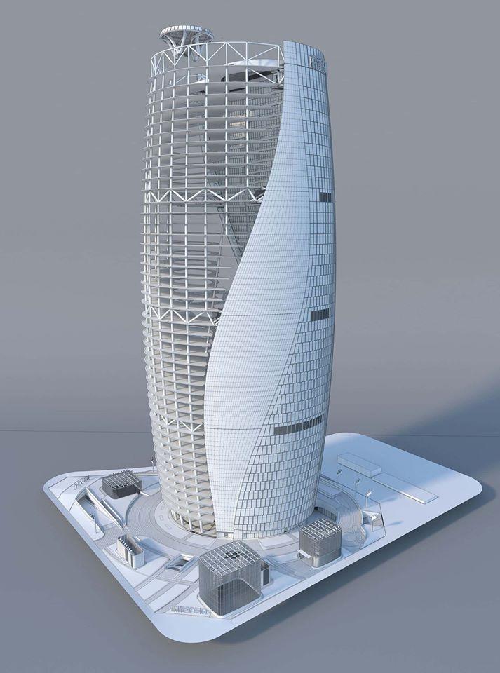 mô phỏng kết cấu và tạo hình 3d tháp Leeza soho