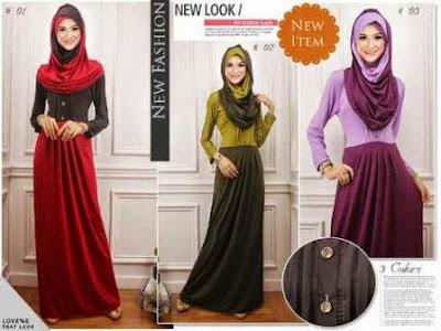 Model Busana Gamis Wanita Muslim Modern Terbaru