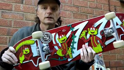 TET with a brand new Pizza Monkey Lifeline Skateboard from BoardPusher.