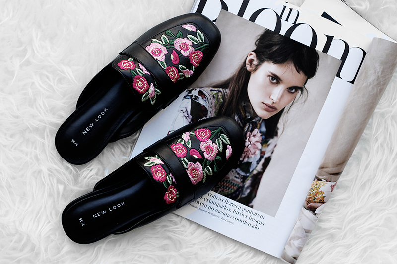 New In | Floral Embroidered Mules
