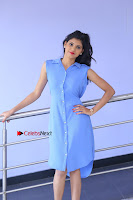 Telugu Actress Mounika UHD Stills in Blue Short Dress at Tik Tak Telugu Movie Audio Launch .COM 0047.JPG