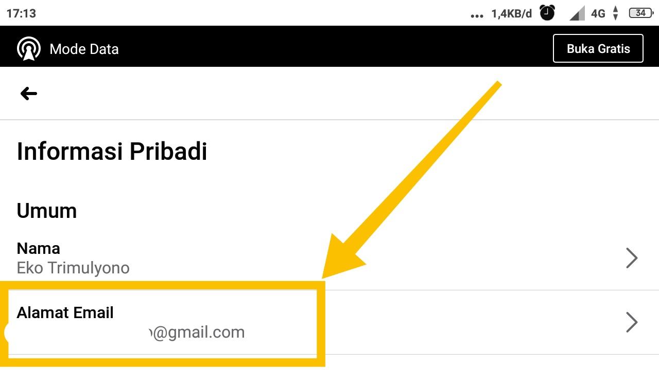 cara melihat email fb orang lain lewat hp