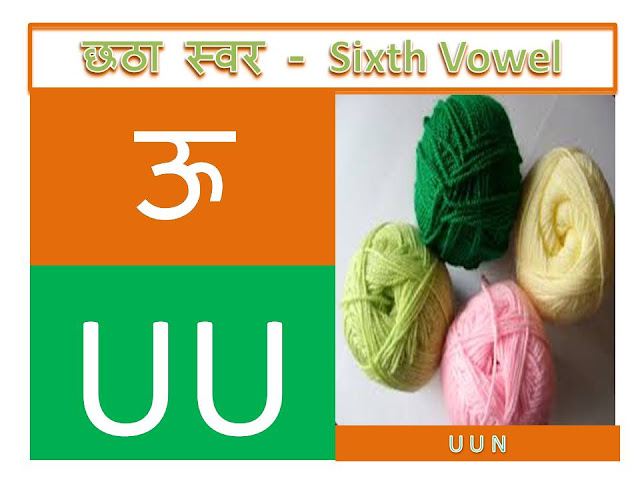 hindi alphabets with words and pictures