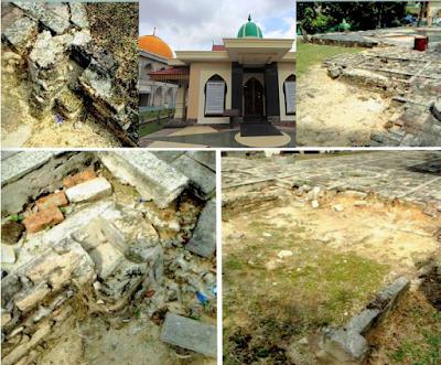 Lokasi Wisata Sejarah Kota Pekanbaru JEJAK TAPAK BANGUNAN MESJID RAYA LAMA