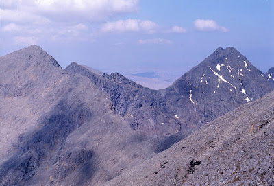 Cuillin ridges above Glen Brittle, 1976