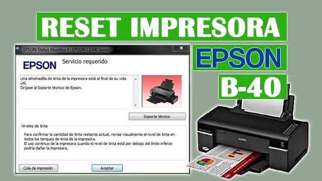 Reset almohadillas de la impresora EPSON B-40
