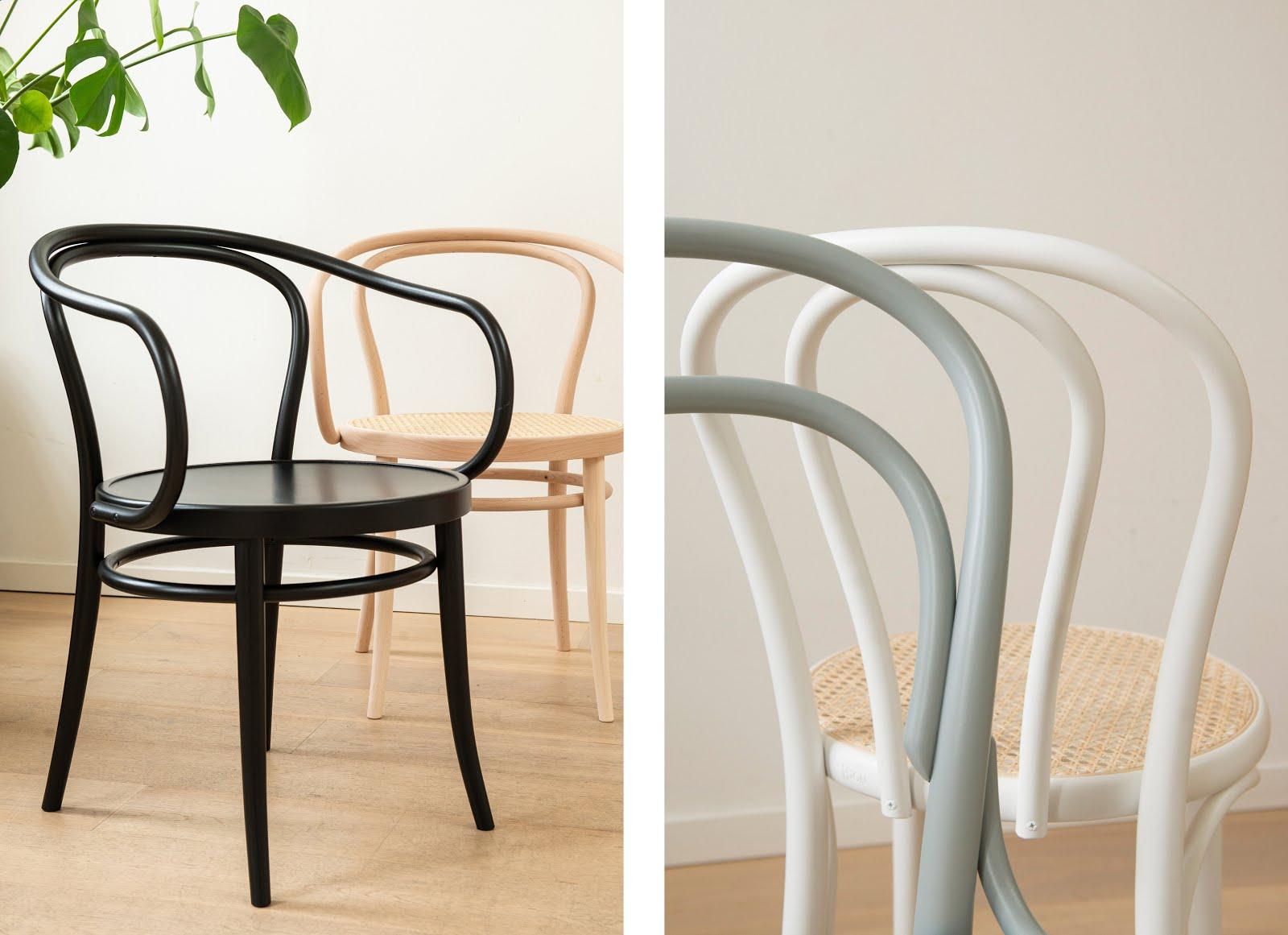 Dille & kamille, thonet, stoelen, chairs, gebogen, eenvoud, nieuw, betaalbaar, duurzaam