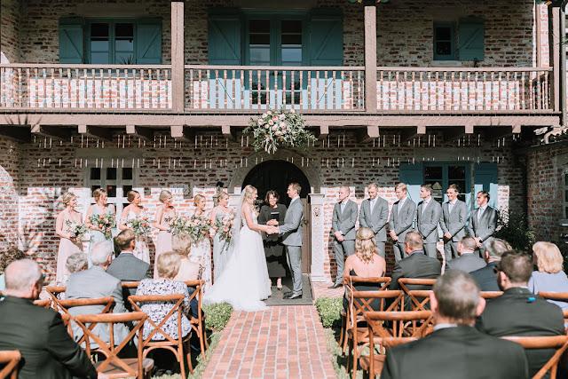 wedding ceremony at casa feliz