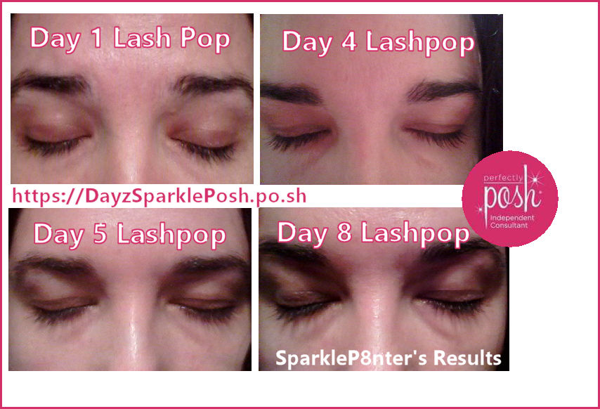 63d8af10dad My Lash Pop Results *UPDATE Day 8 Lash Pop Natural Growth Serum with  Perfectly Posh