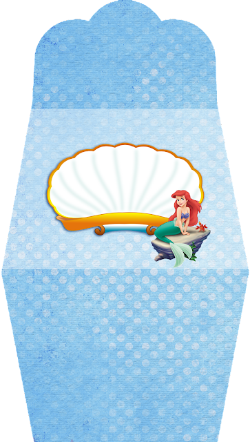 The Little Mermaid Birthday Free Printable Purse Invitations.