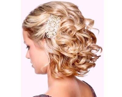 Pinned Back Curls For Short Hair