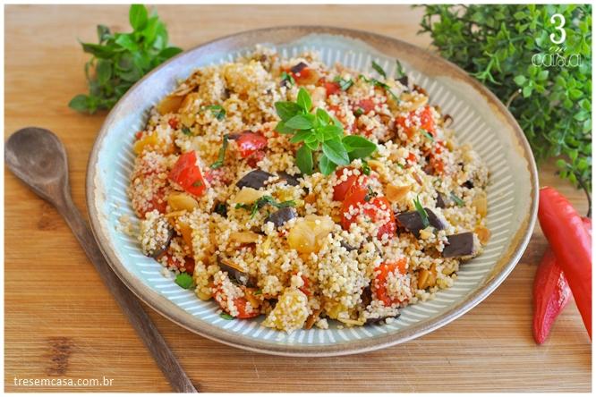 receita de cuscuz marroquino com legumes