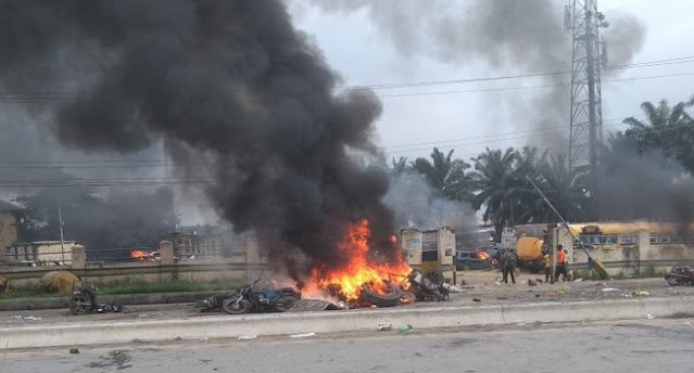 Unknown Gunmen Attack Enugu Police Station, Kill Officers, Cart-Away Arms And Set Ablaze Station