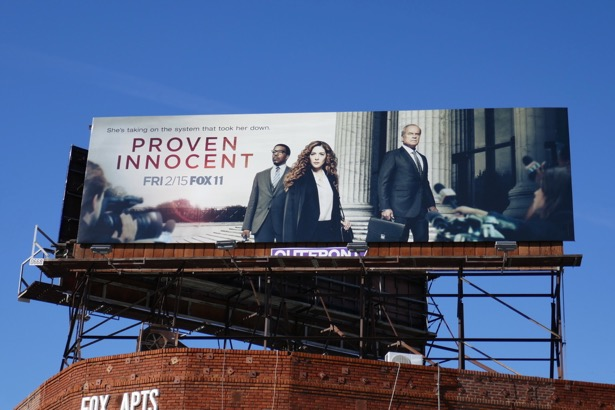 Proven Innocent series launch billboard