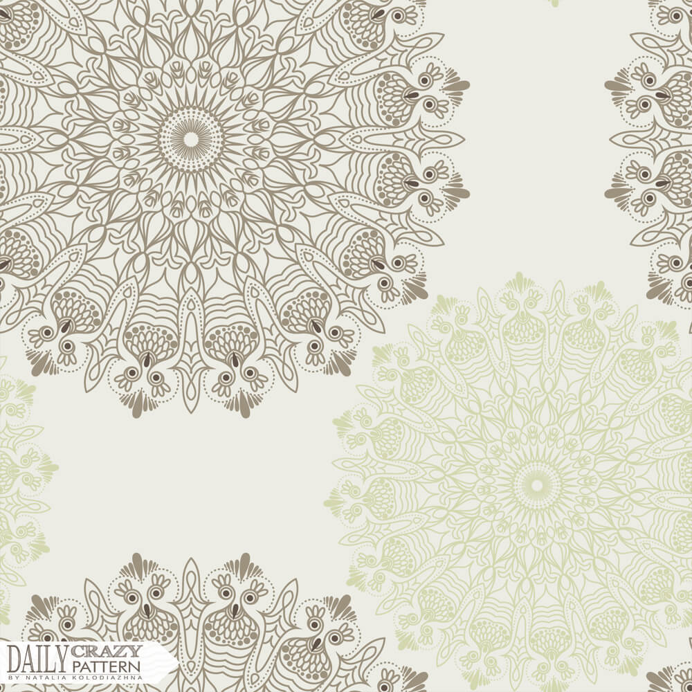 """Nice mandala for """"Daily Crazy Pattern"""" project"""