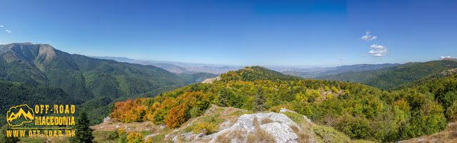 Panoramic view from Sokol peak Nidze Mountain towards North - Mariovo region, Macedonia