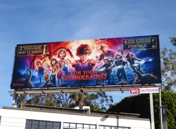Stranger Things 2 FYC Golden Globes SAG billboard
