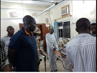 IN PICTURES: Buratai visits UN officials soldiers shot during Boko Haram ambush