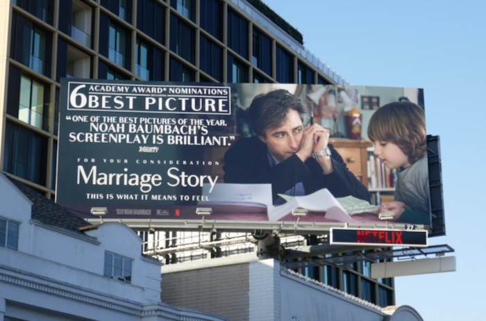 Marriage Story 6 Oscar nominations billboard