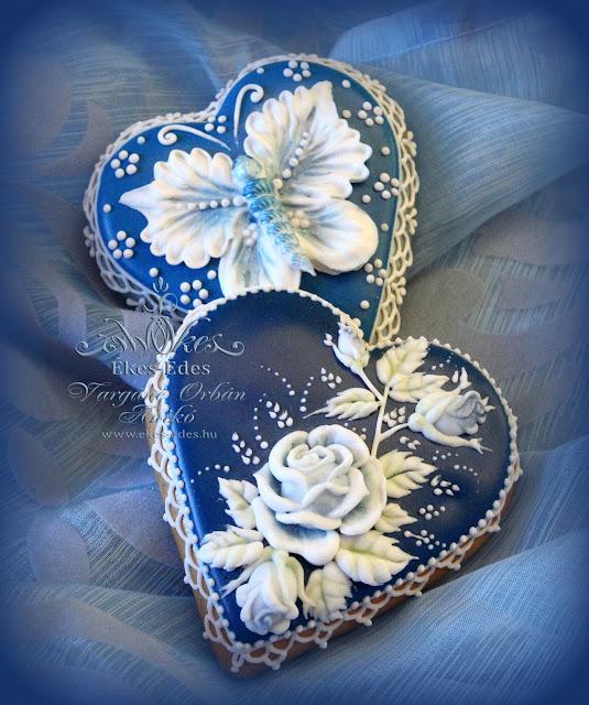 kék mézeskalács szív