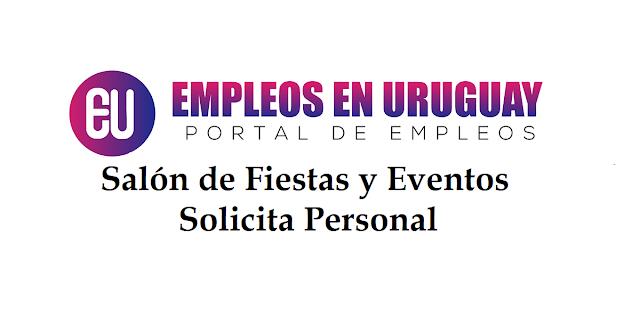Salón de Fiestas y Eventos solicita personal