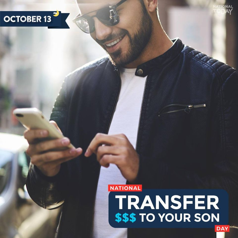 National Transfer Money to Your Son Wishes Images