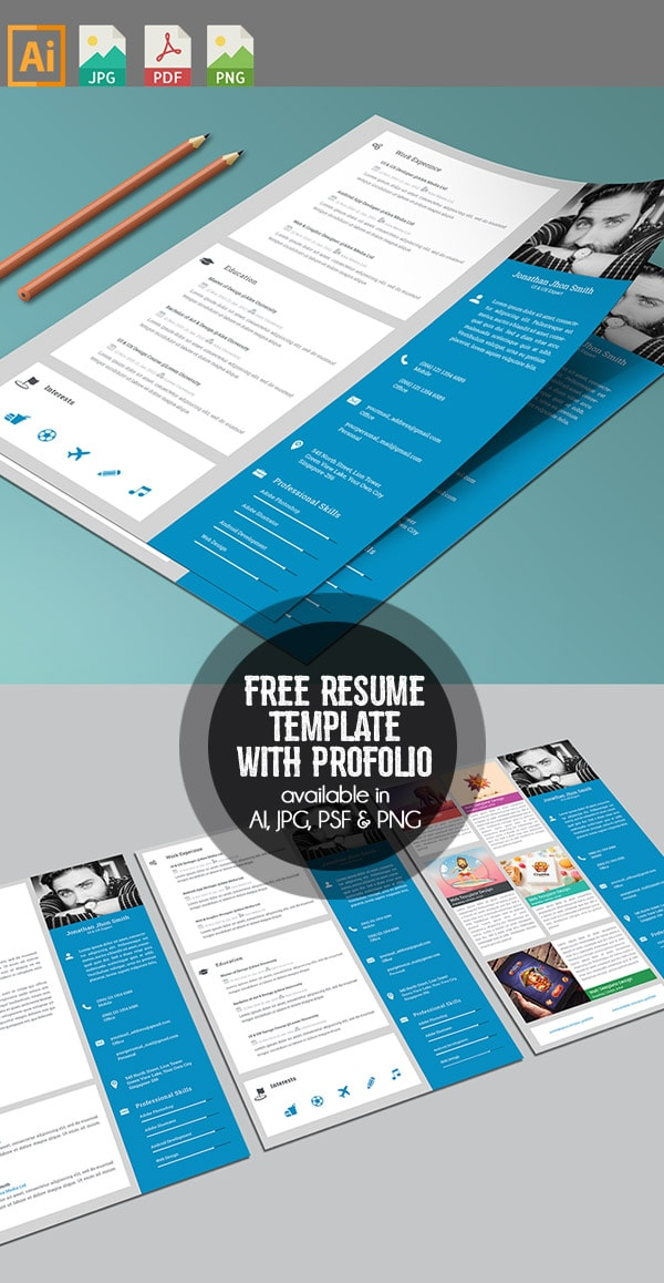 Template Resume / CV Terbaru 2017 - Free Resume/CV with Cover letter & Protfolio