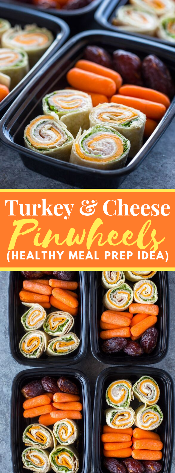 TURKEY AND CHEESE PINWHEELS (MEAL-PREP IDEA) #healthy #diet