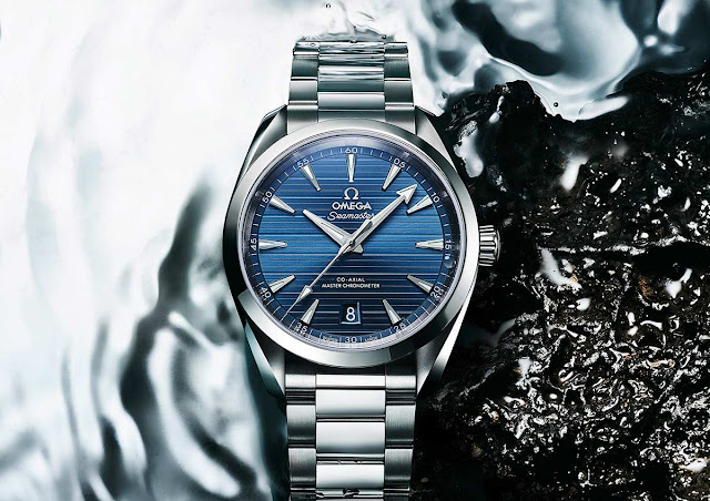 Omega Seamaster Aqua Terra with blue dial (ref. 220.10.41.21.03.004)