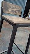 Bar Stool with Backrest (Reclaimed pine wood) - Ladubee
