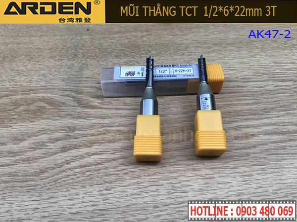 Mũi Router Arden 1/2*6*22mm 3T AK47-2