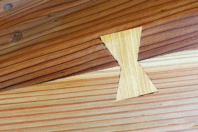 dovetails called huundu, wood joint