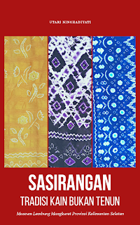 Sampul buku sasirangan dari canva