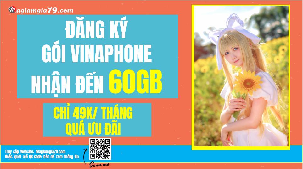Đăng ký gói 60GB/tháng D49P Vinaphone