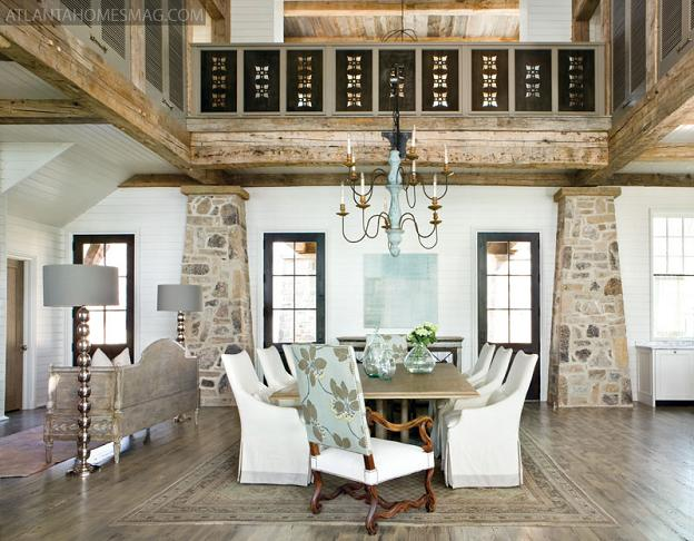 Macara Blog: Rustic & Graceful Lake House