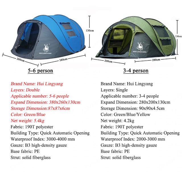 Водонепроницаемая походная палатка на 5-6 человек
