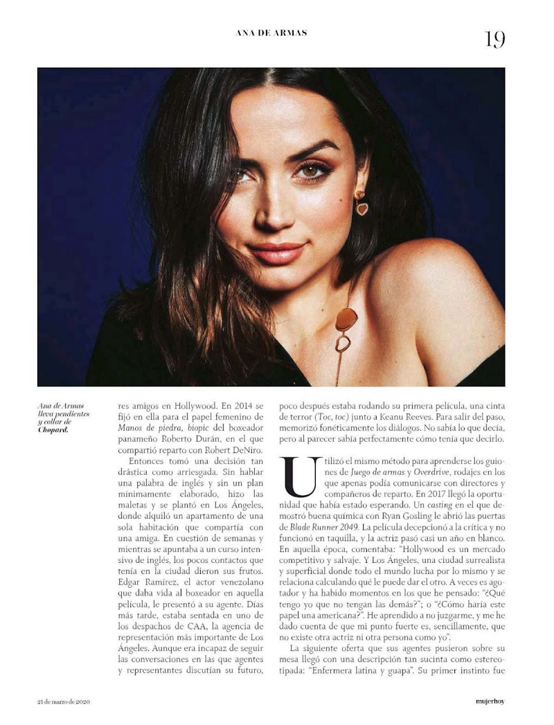 Ana de Armas Featured in Mujer Hoy Magazine - March 2020