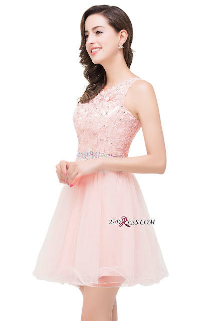 Pink dress for prom