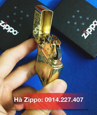 Zippo Venetian xi mạ vàng 24k - MS 352B | Zippo Xuất Nhật