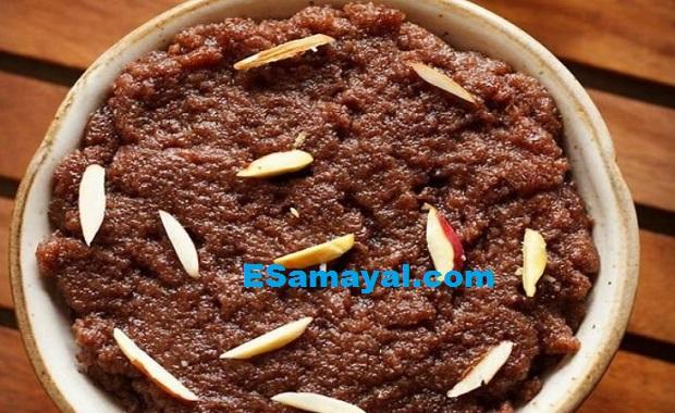 ராகி மாவு அல்வா செய்முறை / Ragi Flour Halva Recipe !