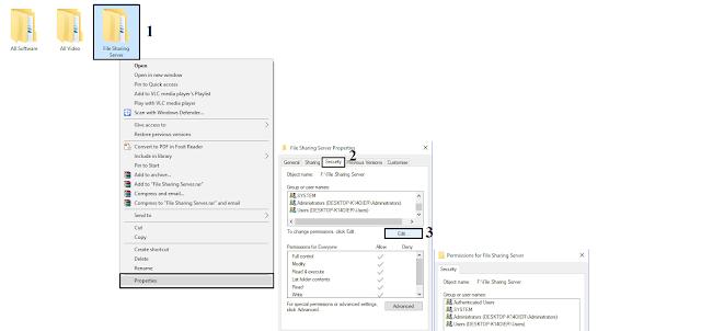 Cara Sharing Folder Pada Windows 7,8 dan 10