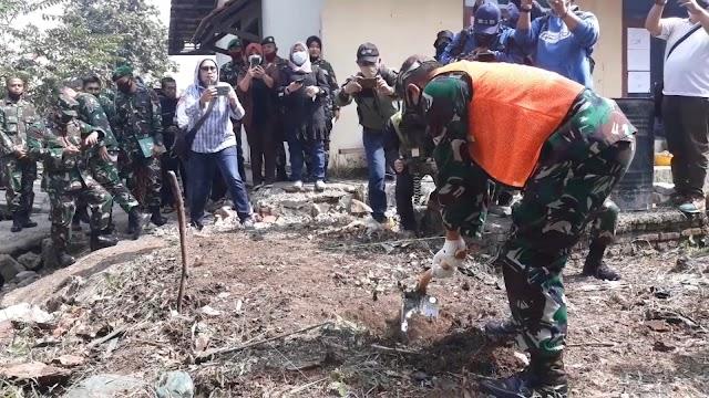 Dansektor 21 Hadiri Pelaksanaan Pembangunan Awal SPALDT di Asrama Pusdikhub Kodklatad Cimahi