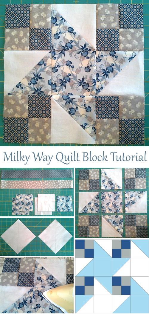 Milky Way Quilt Block Tutorial