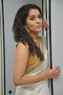 Actress Rashmi Gautham Pictures in White Saree at tur Talkies Audio Launch 0023