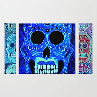 sugar skull rug