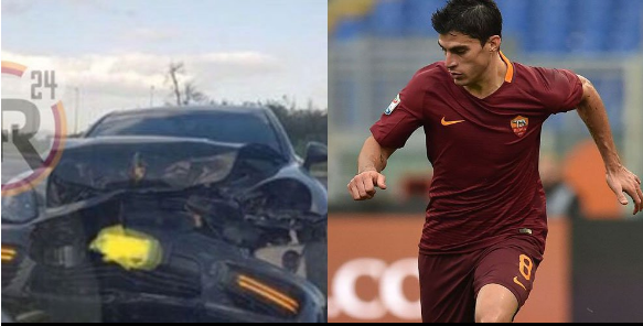 "alt=""the accident car accident experienced by the star player, Diego Perotti"""