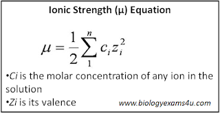 Ionic strength Equation