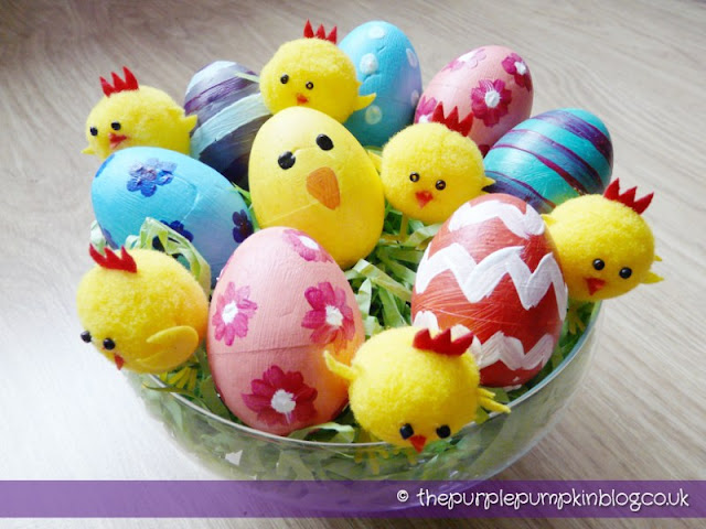 Paint Your Own Easter Eggs | The Purple Pumpkin Blog